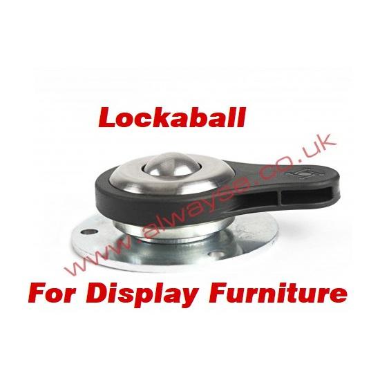 超低床・ロック機能付きボールキャスター「ロッカボールユニット」